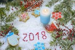 Праздничное рождество, хранитель экрана ` s Нового Года, открытка, предпосылка Стоковое Фото