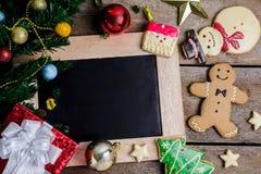 Праздничное украшение, печенье рождества и Новый Год в форме o Стоковое Фото