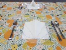 Праздничное урегулирование места еды Стоковые Изображения RF