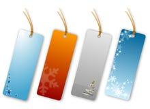 праздничные бирки подарка Стоковые Изображения