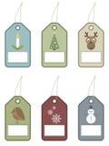 праздничные бирки иллюстрация штока