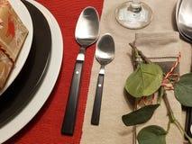 Праздничные сервировки стола сезона Стоковые Фотографии RF