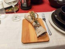 Праздничные сервировки стола сезона Стоковое фото RF