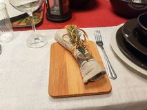 Праздничные сервировки стола сезона стоковое фото