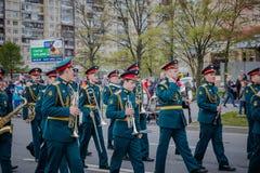 Праздничные события дальше могут 8, 2019 в районе Nevsky Санкт-Петербурга, Россия стоковая фотография