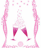 Праздничные стекла шампанского Стоковые Изображения