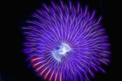Праздничные фейерверки ` s Нового Года Абстрактное торжество фейерверка на голубой предпосылке иллюстрация штока