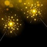 Праздничные Sparkly света Бенгалии иллюстрация штока