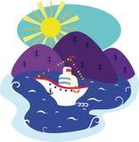 праздничный корабль Стоковое Изображение