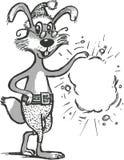 праздничный кролик Стоковые Изображения