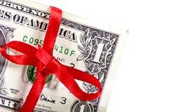 Праздничный один доллар стоковая фотография