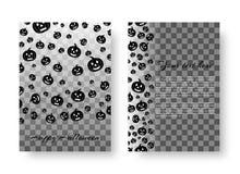 Праздничный плакат с тыквами на хеллоуин Стоковая Фотография RF