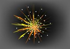 Праздничный салют одно иллюстрация вектора