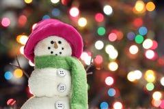праздничный снеговик Стоковые Фото
