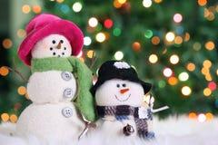 праздничный снеговик Стоковое Изображение