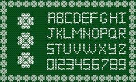 Праздничный сценарий ткани на изумрудно-зеленой связанной предпосылке иллюстрация вектора