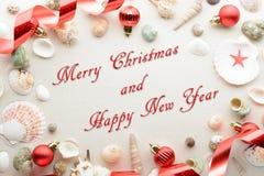 Праздничный с Рождеством Христовым и счастливый Новый Год Стоковое Изображение