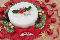 Праздничный торт рождества Стоковое Изображение RF