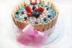 Праздничный торт Стоковая Фотография