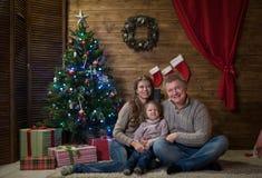 праздновать дом семьи рождества счастливый Стоковое Изображение RF