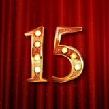Праздновать 15 лет годовщины Стоковая Фотография