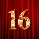 Праздновать 16 лет годовщины Стоковое Фото