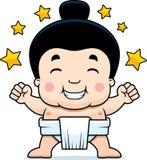 Праздновать мальчика Sumo шаржа бесплатная иллюстрация