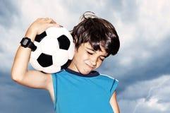 праздновать победу футболиста Стоковая Фотография RF