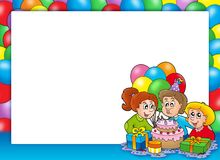 праздновать рамку детей иллюстрация вектора
