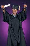 праздновать студент-выпускника стоковые изображения rf