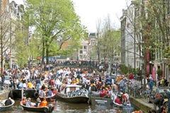 праздновать amsterdam queensday Стоковое Фото
