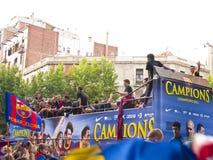 праздновать uefa лиги чемпионов Стоковая Фотография