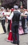 Праздненство ` Сан Isidro `, покровителя Мадрида, 15-ое мая 2017, Мадрида, Испании Стоковое Изображение