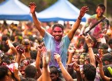 Празднество Holi цветов стоковая фотография rf