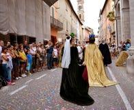 празднество flags средневековое небо Стоковые Изображения