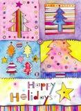праздники карточки счастливые Стоковые Фотографии RF