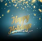 праздники карточки счастливые иллюстрация штока