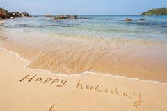 праздники пляжа счастливые стоковое изображение rf