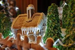 праздники gingerbread рождества застекляя расквартировывают подготовки кладя женщину валов Стоковое Фото