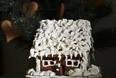 праздники gingerbread рождества застекляя расквартировывают подготовки кладя женщину валов Стоковое Изображение RF