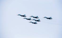Праздник воздушных судн, проведения демонстрации воинских пилотов Стоковое фото RF