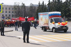 праздник в марше 1-ого мая Стоковые Фото