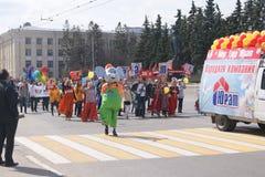праздник в марше 1-ого мая Стоковые Изображения RF