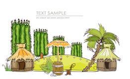 Праздник в тропическом острове, предпосылке концепции бесплатная иллюстрация