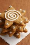 Праздник заморозил печенья звезды пряника Стоковая Фотография