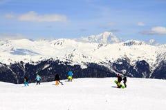Праздник зимы в альп Стоковые Фото