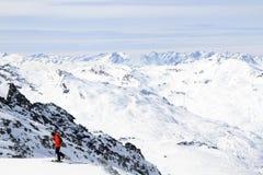 Праздник зимы в альп Стоковое Изображение RF
