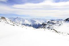 Праздник зимы в альп Стоковое фото RF