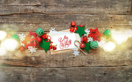 Праздник знамени рождества красный белый забавляется письмо Стоковое Фото