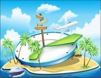 Праздник на островах иллюстрация штока